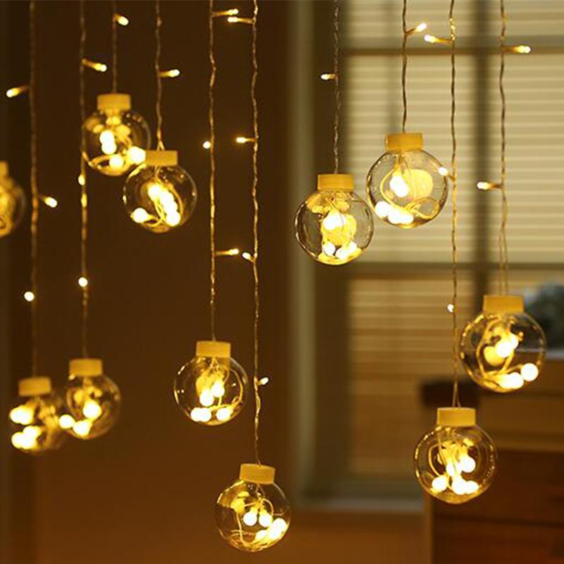 finest selection f6952 8e3a6 String Globe Lights Clear LED Window Room Hanging String Light Festival  Indoor Outdoor Decoration LED Lights Battery Operated String Lights Starry  ...