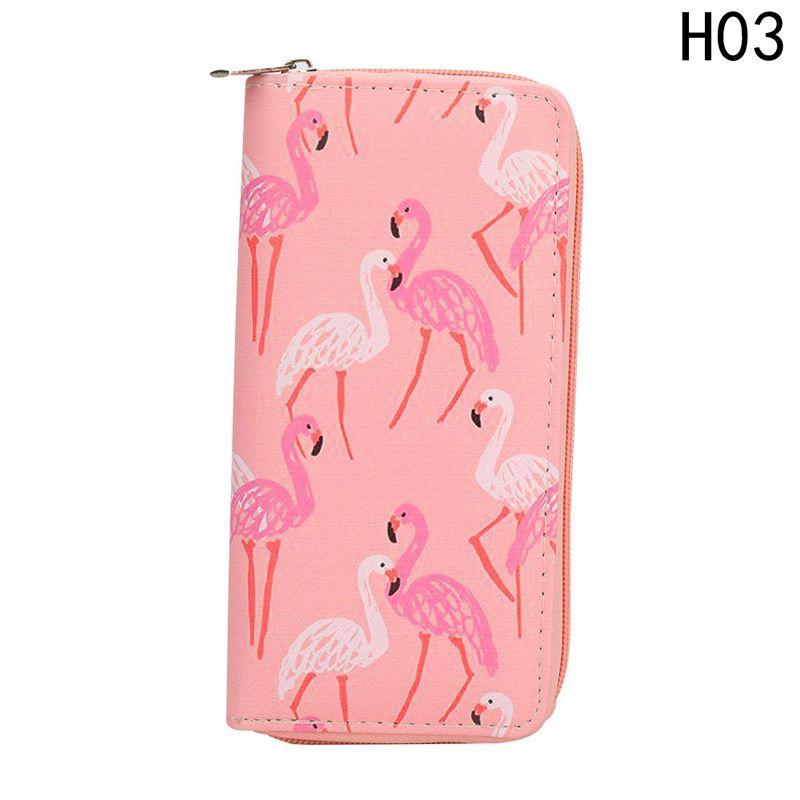 Portafoglio donna frutta uccelli giallo animale modello lungo portafogli bianco colore rosa borse denaro tasca tasca pratica borsa