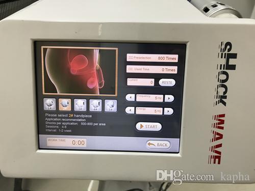 Máquina de salud de belleza tiene disfunción eréctil de baja intensidad Terapia de onda de choque enfocada ED ESWT con aplicación CE