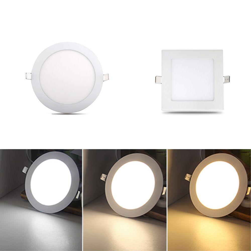 3W-18W LED RECESSED LIGHTING PANEL CEILING DOWN LIGHT ROUND SQUARE DOWNLIGHT EK
