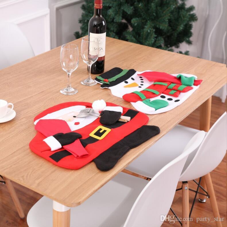 Горячие Продажи Рождество Санта-Клаус Снеговик Стол Коврик Включают В Себя 1 Салфетка Крытый Рождественские Украшения Дома Таблицы 2 Стиль