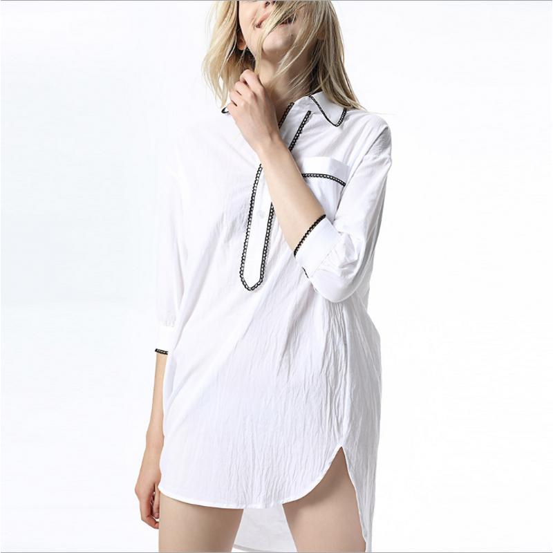 2018 Yaz Marka Gecelik Kızlar Rahat gecelik Kadınlar Pamuk nighty elbise bayanlar Yarım Kollu Turn-aşağı yaka pijama elbise