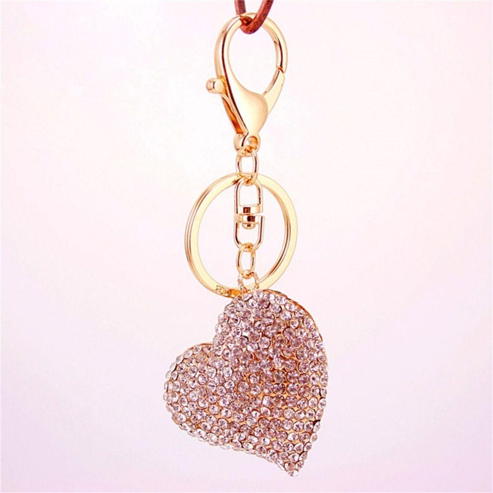 Au-Tomotive Gold INC Heart Shape Key Chain for Toyota Pink