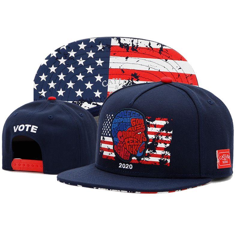 VOTE 2020 snapback sombreros para hombres mujeres gorra de béisbol para hombre para mujer del diseñador del sombrero moda casquette gorras calle sombreros de verano sombrero de sol