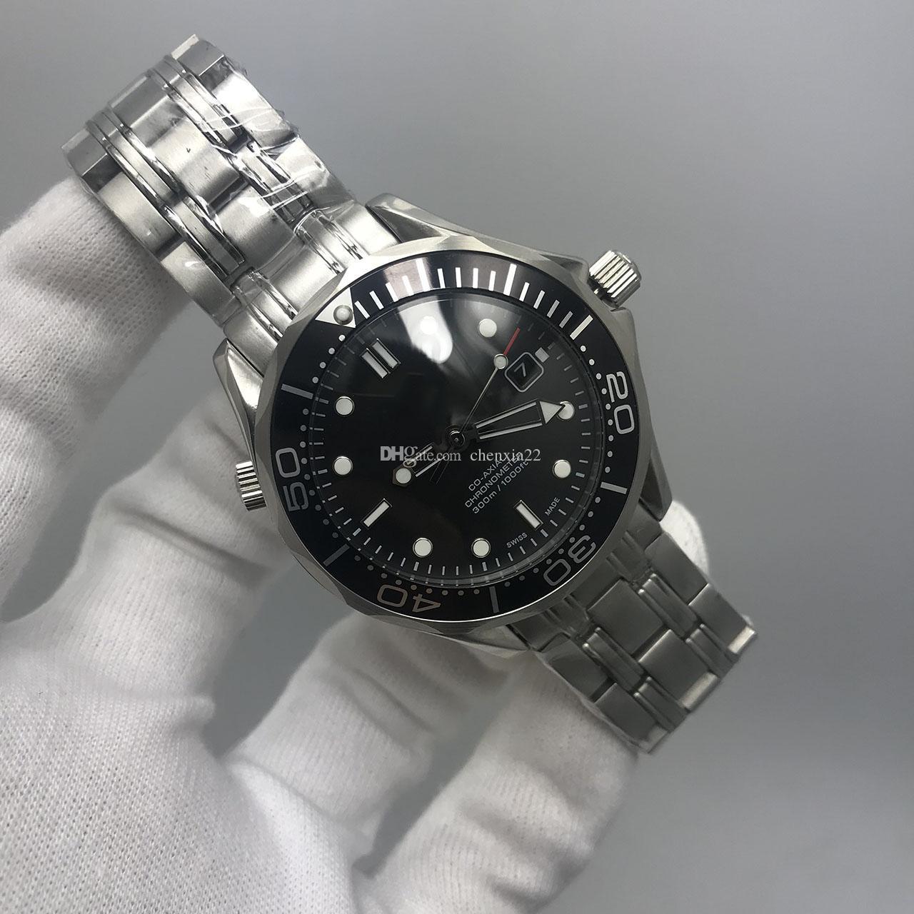 2019 James Bond 007 Black Dial Assista Edição Limitada Professional Chronometer Mens Sprots Stainless Steel Assista Homens Automatic Relógios 43 milímetros