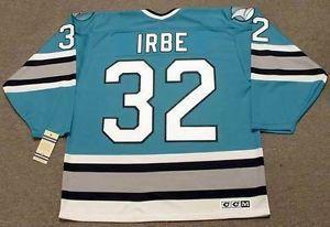 a7a2defc14c ... Hockey Jerseys ;. Mens,Womens,Kids-ARTURS IRBE San Jose Sharks 1993 CCM  Vintage M&N Custom