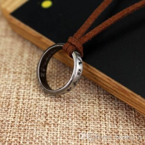 Leather Necklace PS4 Game Uncharted 4 A Thiefs End Nathan Drake Necklaces Cord Chain Long Necklace