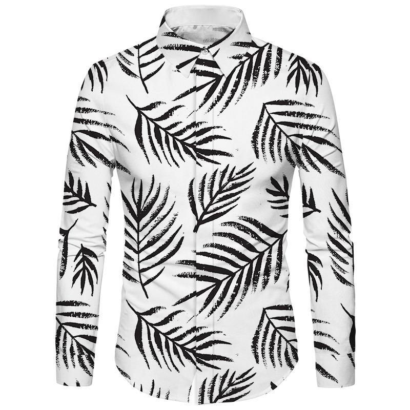 Cloudstyle 2018 Kendi Tasarım Erkek Gömlek 3D Baskı Çiçek Hawai Gömlek Casual İş Giyim Keten Katı Camisa Hombre Tops