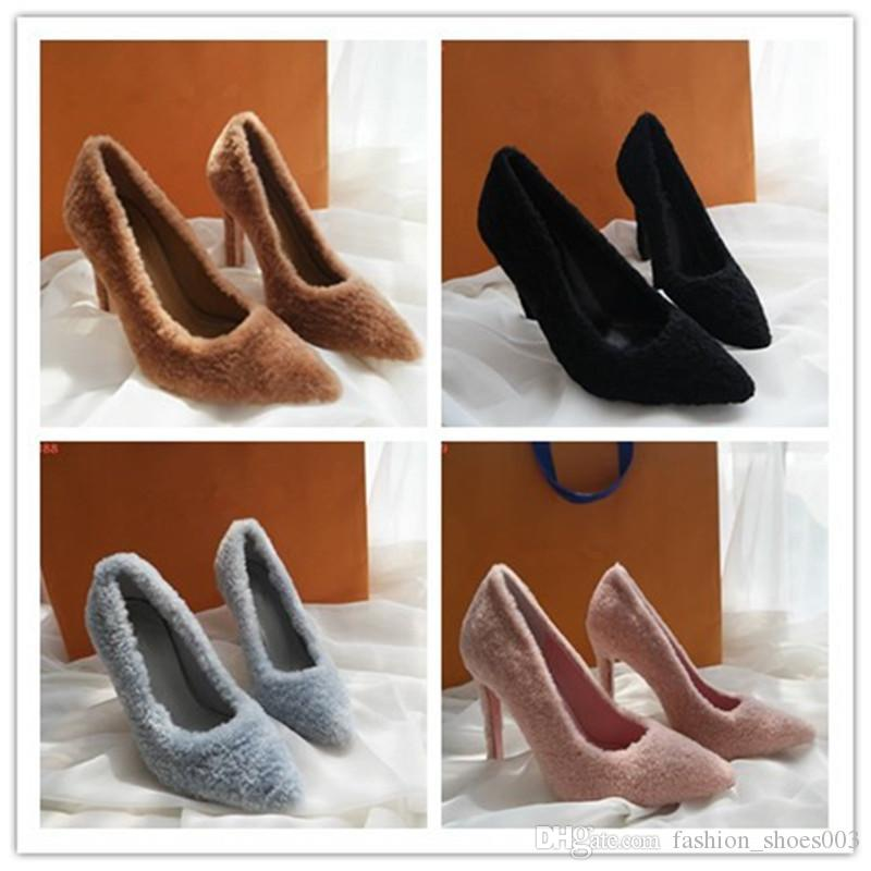 2018 WOMAN DIGITAL EXCLUSIVE SUZY PUMP 1A4ETQ FUR HIGH HEEL GIRLS SEXY SHOES DANCE SHOES WEDDING SHOES WITH TOP QULITY
