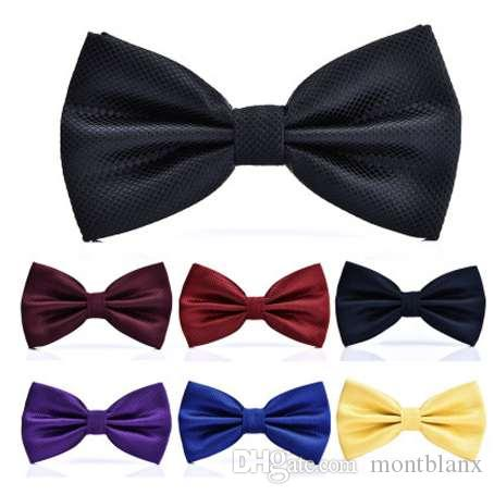 15 colores moda sólida pajaritas novio hombres colorido cuadros pañuelo gravata matrimonio masculino mariposa boda pajaritas