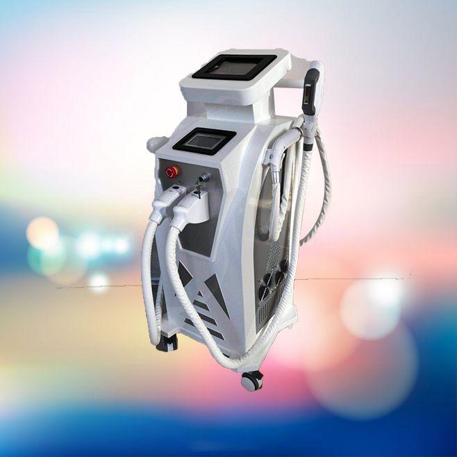 3 in 1 güzellik makinesi cilt gençleştirme e-ışık ipl rf + nd yag lazer İşlevli epilasyon pigment kaldırma dövme temizleme ekipmanları