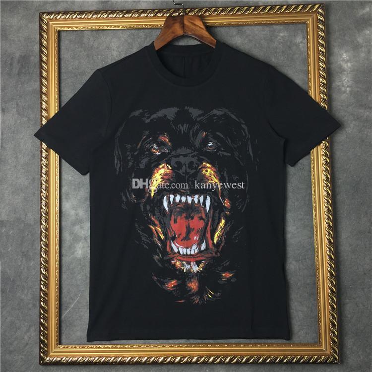 2019 sommer männer Marke t shirt kurzarm 3D Rottweiler druck designer casual t-shirt mode kleidung t baumwolle tops t-shirt