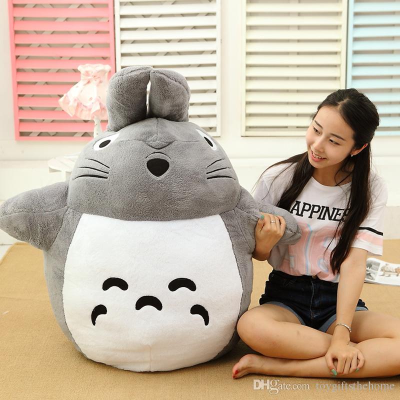 Nueva muñeca Totoro juguete de peluche grande anime Totoro juguete de dibujos animados gato almohada para regalo de cumpleaños de los niños regalo 100 cm 120 cm 140 cm