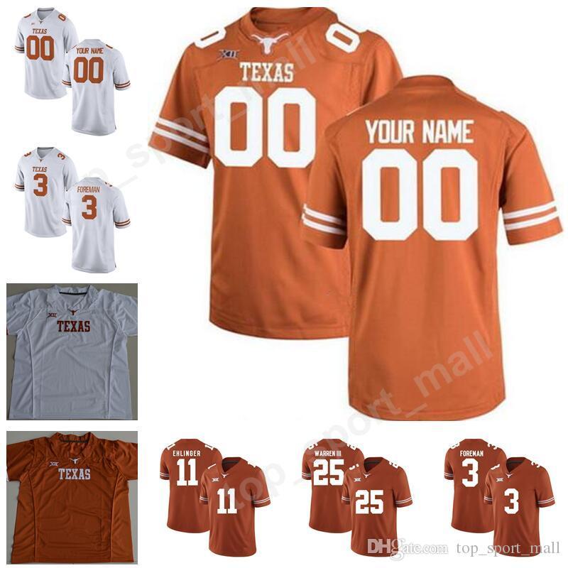 College Texas Longhorns 11 Sam Ehline Jerseys Мужские футбольные 49 Joshua Rowland 25 Chris Warren III 3 Armanti Foreman Custom Number Number