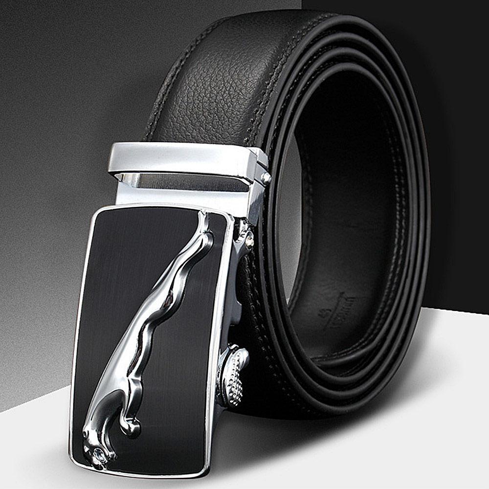 muy agradable b46b0 803c7 Compre DOULILU Cinturones Para Hombre Cinturones De Cuero Genuino Cinturón  Negro Hebilla Automática De Alta Calidad Para Hombres De Negocios ...