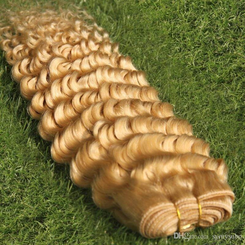 # 613 بليتش شقراء اللون البرازيلي موجة عميقة حزم الشعر 100٪ الانسان الشعر النسيج 1028 بوصة مزدوجة غير المجهزة لحمة الشعر ملحقات