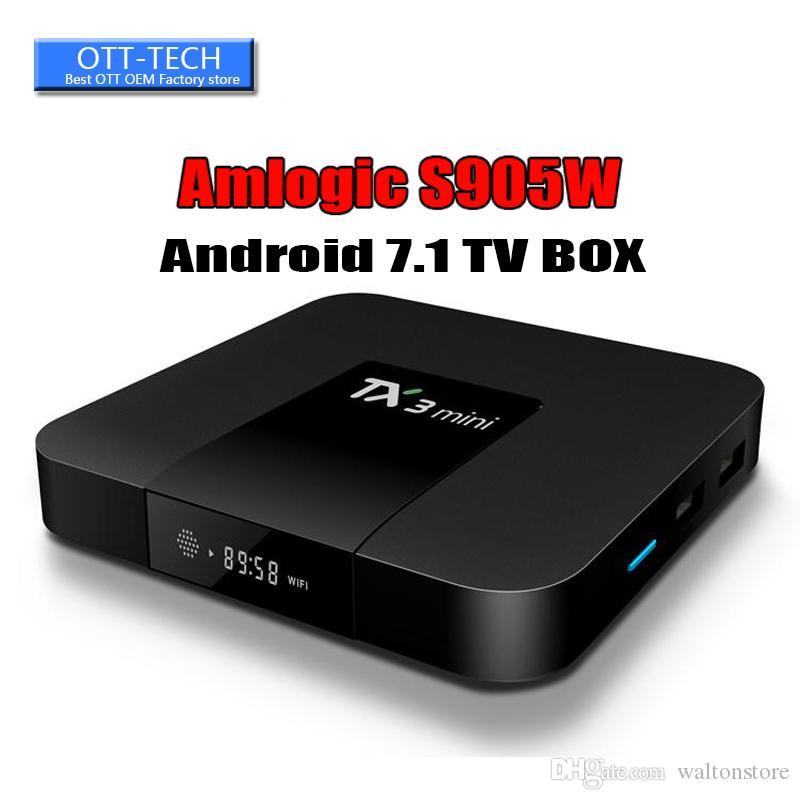 1 PCS Amlogic S905W Quad Core TV BOX TX3 mini 1GB 8GB Internet Android 7.1 TV Boxes 4K Wifi DLNA Better X96 H96 MINI