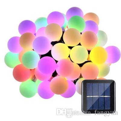 Solar Powered Globes 5M 50 LED Ball Lights String Lights Solar Powered Patio Lights Christmas Light Home Lighting Garden Lawn Evening Access