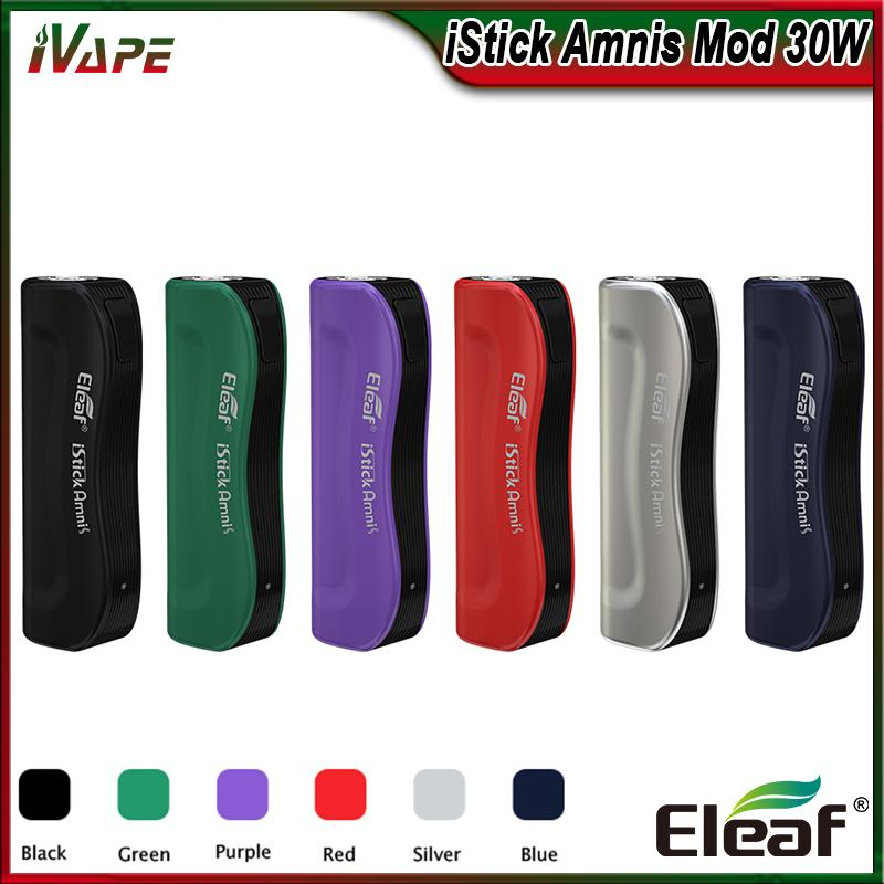 100% Original Eleaf iStick Amnis Battery Buit-in 900mAh Mod 30W with Colorful LEDs Indicator Electronic Cigarette Vape Mod fit GS Drive Tank