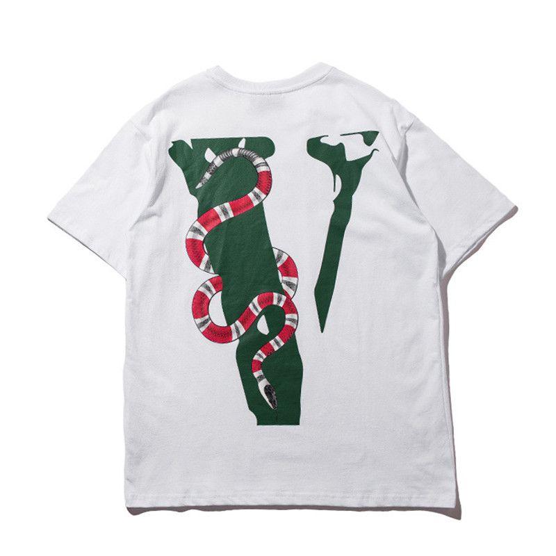 2020 Homens T Shirt Hop Masculino Camiseta Serpente Impresso Moda Casual Tees amigo skate Hip Streetwear T Roupa de inverno