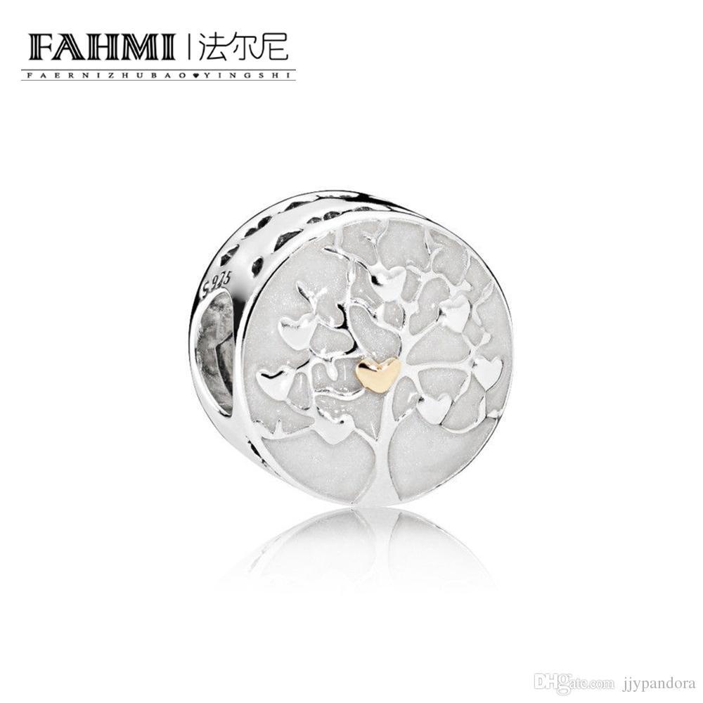 Fahmi 100% 925 Sterling Silver 1: 1 Oryginalny 792106EN23 Autentyczne temperament Moda Glamour Retro Bead Wedding Women Jewelry