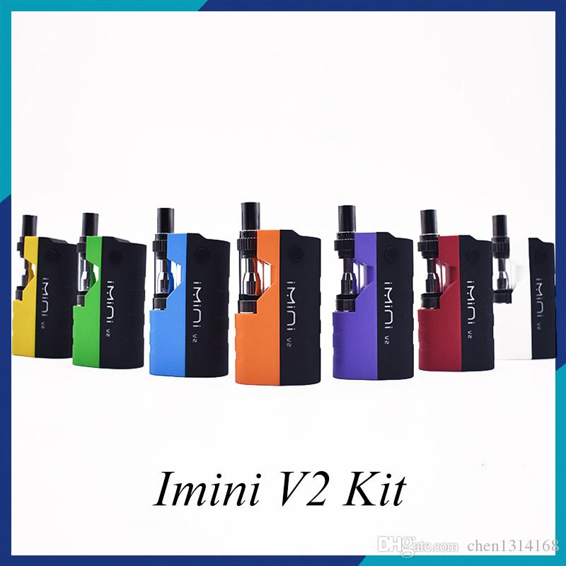 Imini V2 Kit 650mAh Preheat Battery Upgraded Box Mod 0.5ml 1.0ml Imini I1 Tank Cartridge Vaporizer for Thick Oil 0268100-1