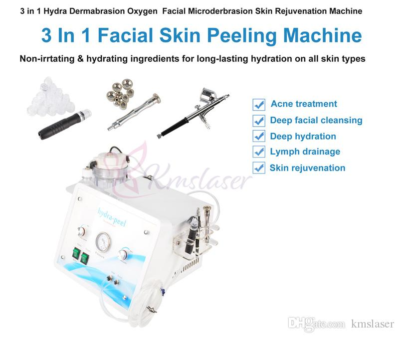 3 in 1 산소 스프레이 건 다이아몬드 Dermabrasion 피부 필링 Hydrodermabrasion Hydro Facial Face Care Beauty Machine