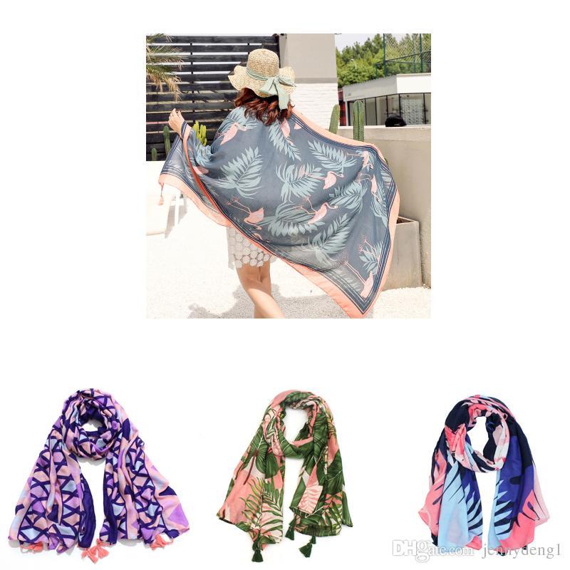 Moda china nuevo diseño de impresión personalizada chal niñas bufanda al por mayor