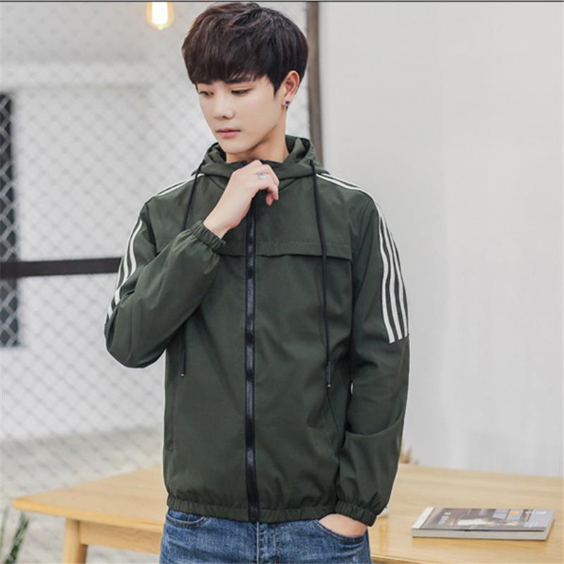 Toturn 2018 Autunno New Jacket Giacca da uomo Giacca da uomo con cappuccio Uomo Casual Man College Cappotti Army Green Navy Blue Outwear