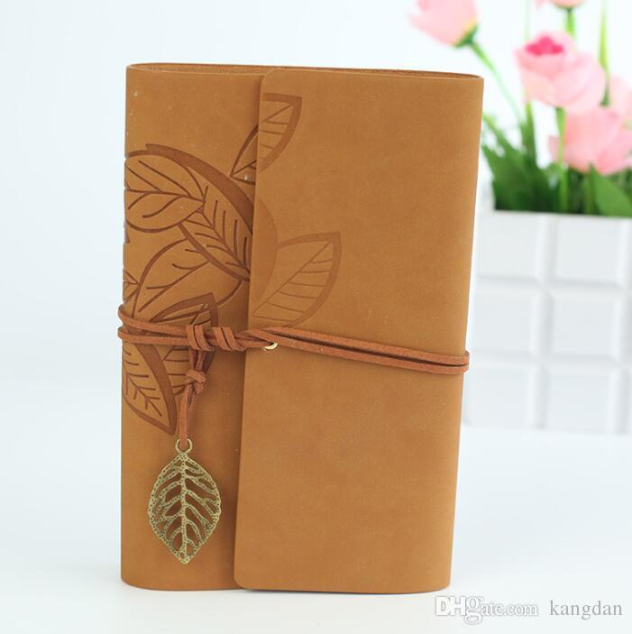 A5 big sizes fashion diary notebooks vintage pu leather covers notepads business office student books for girls gift wholesale