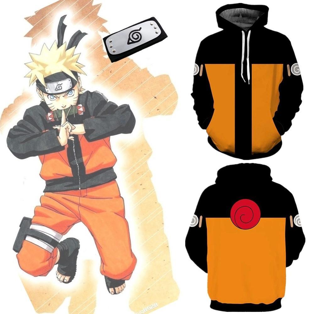 Asya Boyutu Japonya Anime Uzumaki Naruto Cadılar Bayramı Hokage Cosplay Unisex Kostüm Beyzbol Ceket Yumuşak Ceket Hoodie Kafa
