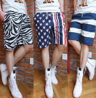 Pantalones de playa de verano, pantalones cortos para hombres, ocio de verano, pantalones holgados, viajes a casa, cinco pantalones.