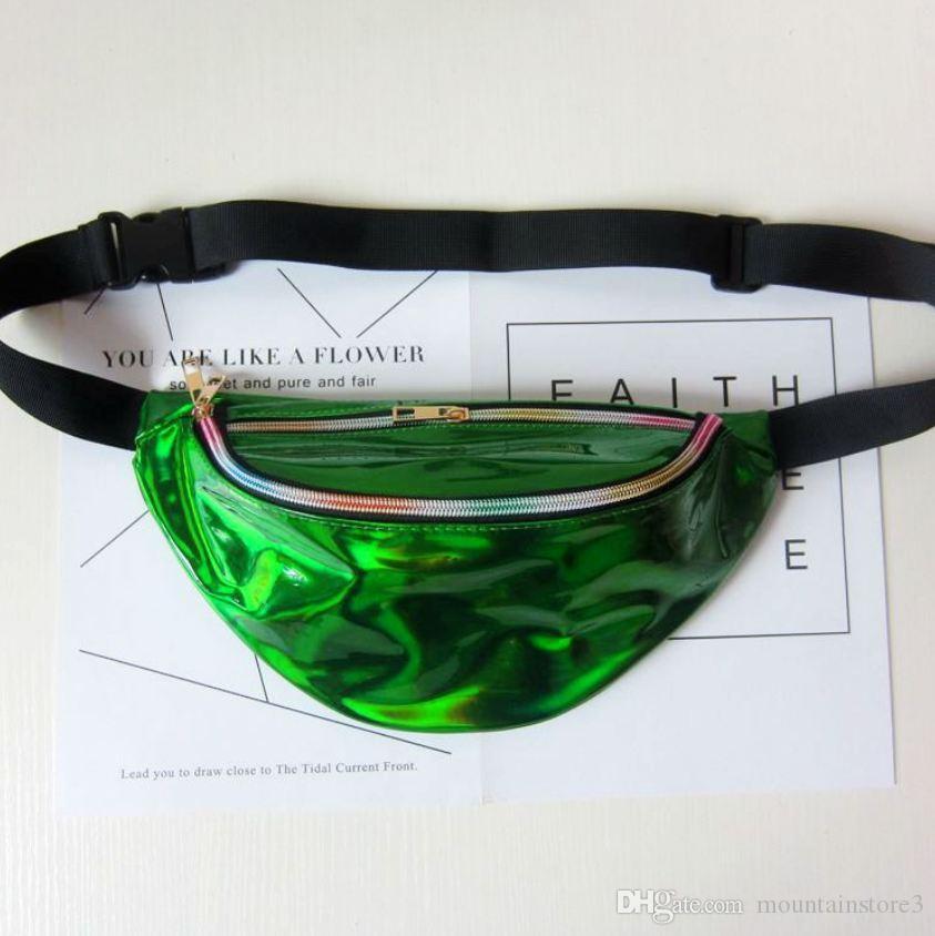 New Holographic Fanny Pack Laser Waist Packs Heuptas Hip Bag Women's Waistband Banana Bags Waist bag Unisex bolso cintura -t