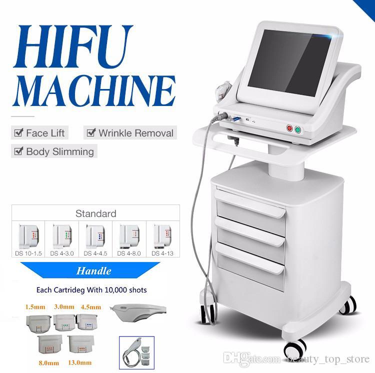 Máquina focalizada alta intensidade do ultra-som de Hifu do ultra-som profissional com os três ou cinco cartuchos para o corpo da face lift HIFU