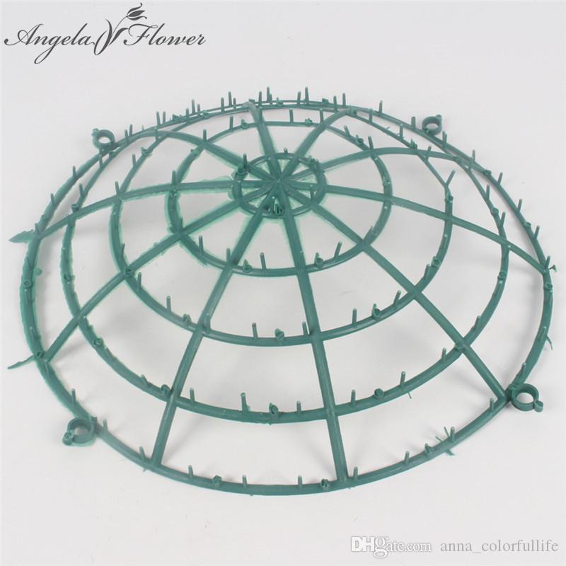 1PCS artificial plastic round flower stand frame DIY wedding flower ball shop window decoration for home hotel flower accessorie