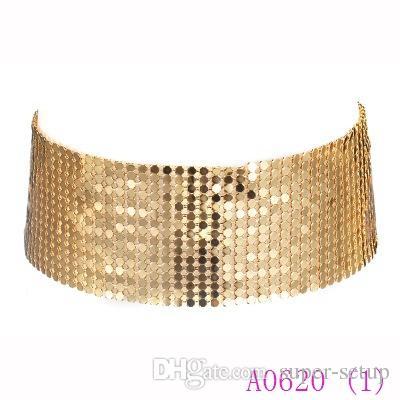 Панк блестки широкая сетка колье ожерелье преувеличены заявление Boho ожерелья женщины красивые ожерелье ювелирные изделия A0620