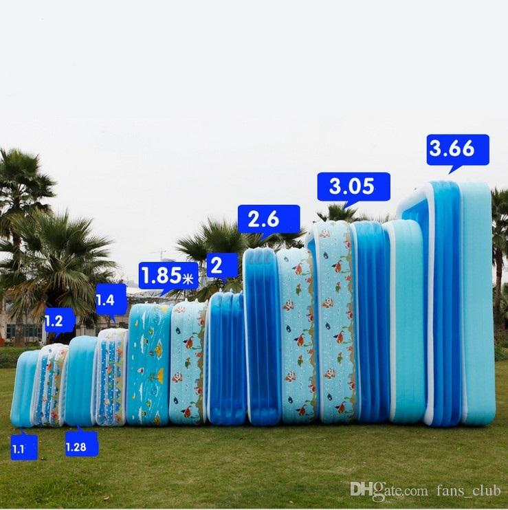 110 -366cm Big Size Pool Adult family splashing ocean balls sand tub kids Portable Inflatable swimming pool children bathtub