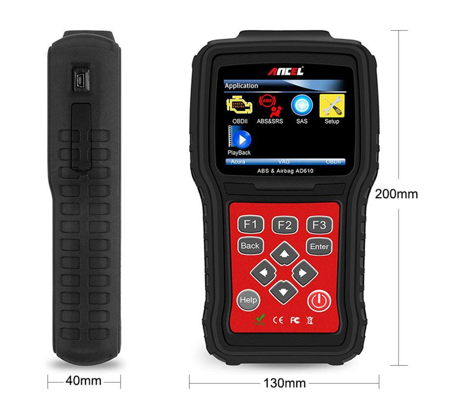 OBD2 OBD Automotive Scanner Diagnostic Tool Ancel AD610_09