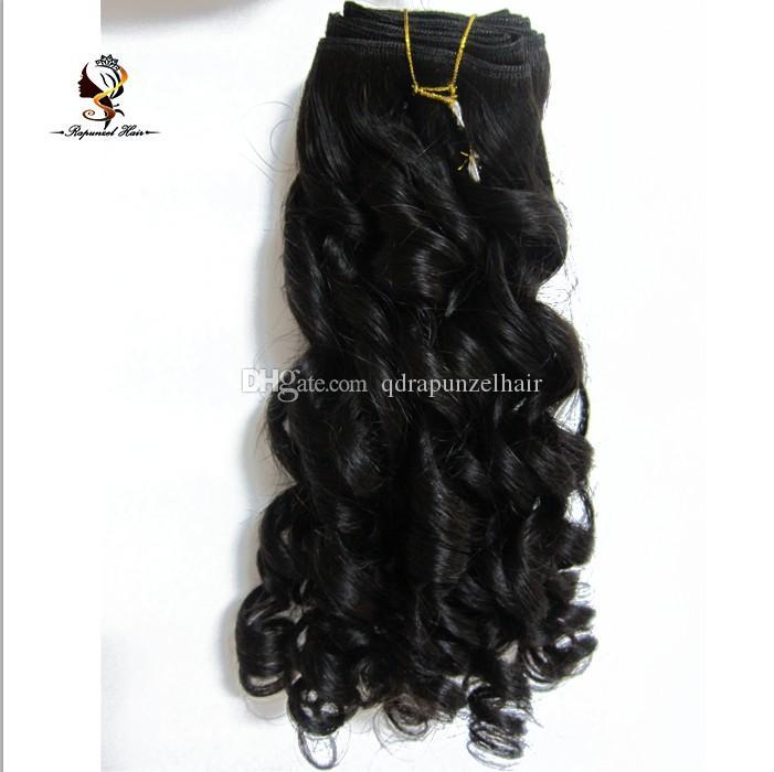 QDRapunzelHair 쇼핑 온라인 브라질 머리카락 번들 머리카락 weft 재봉틀은 인간의 머리카락을 짜다