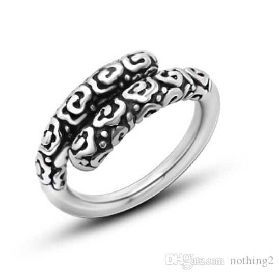 jewelry rings for men tianium steel stick cool Punk open rings hot fashion free of shipping