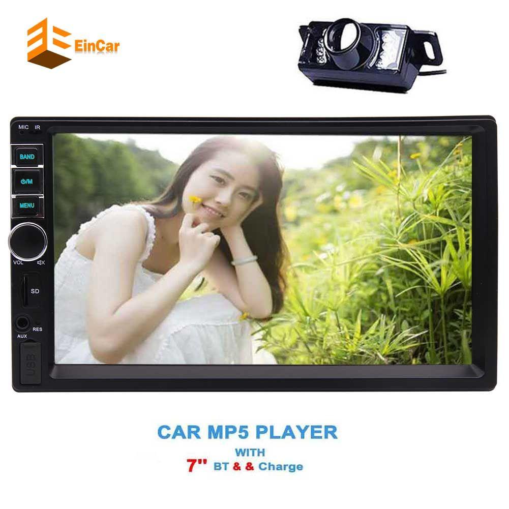 Reversing Camera Dash Capacitive Touchscreen Univresal 7'' Car Stereo Autoradio Bluetooth 2 Din HD FM Radio Receiver MP5 Player USB SD Input