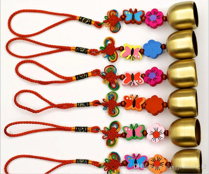 Chines Style Wind Chimes With Copper Bells For Good Luck fortune Car Garden Home Wall Hanging Decoration Arts Crafts Birthday Gifts