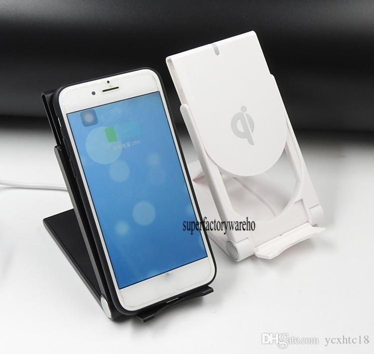 2017 Universal Qi Wireless Charger adjustable Folding Holder Stand Dock For Samsung S6 Edge Plus s7 edge Note 5 6