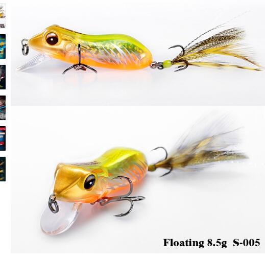 في الهواء الطلق الفاخرة سلسلة العلامة التجارية SFT 2017 نوع جديد الضفدع الصيد السحر Fishfrog باس Sneakhead CRANKBAIT محاكاة سحر ضفدع الاصطناعي بيت