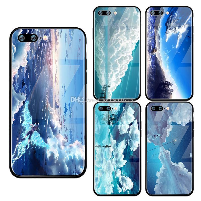 Coque Premium Pour Iphone X 6 6S 7 8 Plus Xs Max Xr 5S Paysage De Ciel Bleu Motif En Verre Trempé Coque Iphone Couverture Dos Proposé Par Joansen0725, ...
