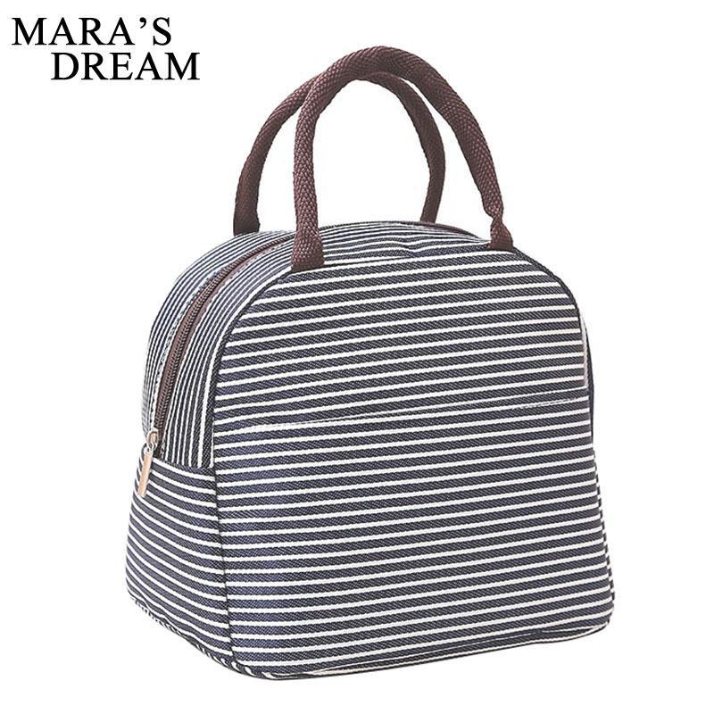 مارا حلم المرأة غداء حقيبة الأزياء شريط قماش المرأة حقيبة العزل اليد قماش تخزين سعة كبيرة