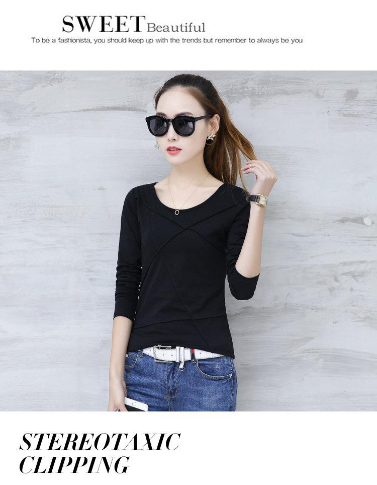 Plus Size Tshirt Women T-shirt Tee Tops Femme Autumn Long Sleeve T-shirts For Women 2019 Casual Cotton Tops Tees Camisetas Mujer (11)