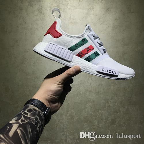 c01128e7e Hot Nmd R1 X Bees Primeknit Men Women⠀gucci Running Shoes Og Classic Triple  Black White Beige Oreo Athletics Sports Trainer Sneakers 36 45 Hiking Shoes  ...