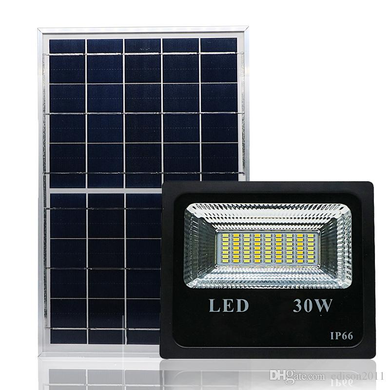 Edison2011 20W 30W Solar Light with 4 mode Controller Double Color Solar Floodlight Spotlight Waterproof for Garden Yard Wall Lamp