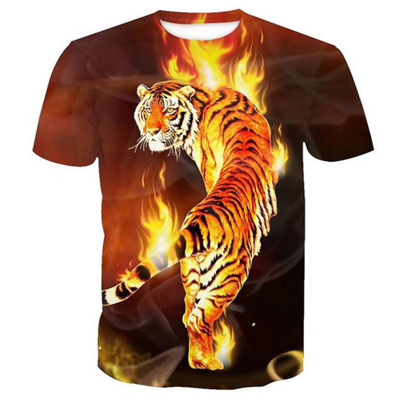 Fierce Tiger Men/'s Novelty T-Shirt